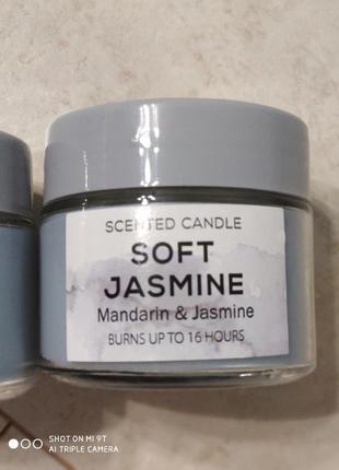 Ароматная свеча мандарин и жасмин