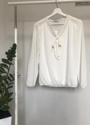 #розвантажуюсь біла шифонова блуза