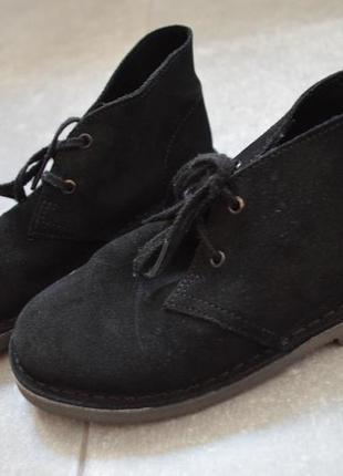 Замшевые ботинки кларкс р.12 стелька 20