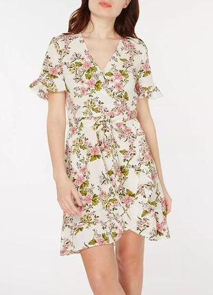 Платье на запах с цветочным принтом dorothy perkins