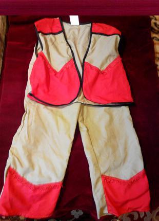 Карнавальный костюм Индеец для мальчика  7 - 8 лет рост 128 см