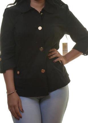 Куртка жакет по фигуре из черного твила usa (  m, l)