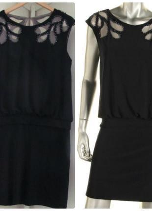 """Платье -  блузон с вышивкой на сетке """"10"""" usa  46-48 р"""