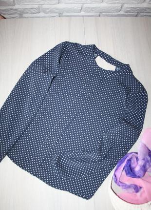 Стильная и красивая блузка в горошек!