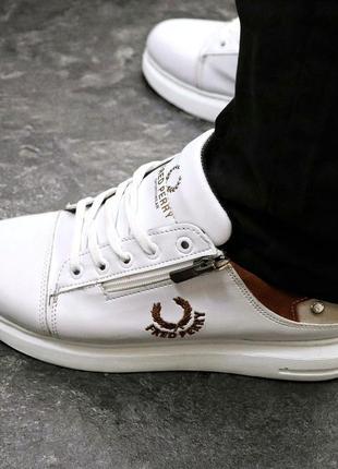Мужские премиум кроссовки  fred perry white