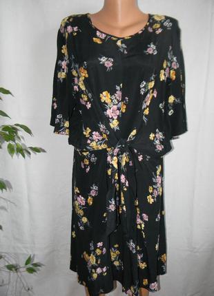 Натуральное платье с цветочным принтом