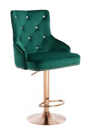 Барный стул хокер HR654СW зеленый золото