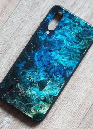 Чехол с закаленным стеклом Malachite для Xiaomi Mi 9 Lite