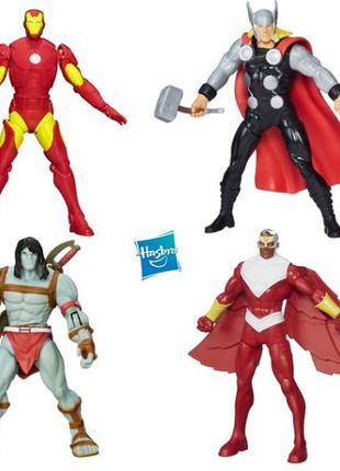 Фигурки Мстители 4в1: Скар, Тор, Железный человек, Сокол, Hasb...