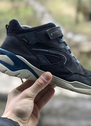 Ecco biom gore-tex шкіряні кросівки полуботінки оригінал