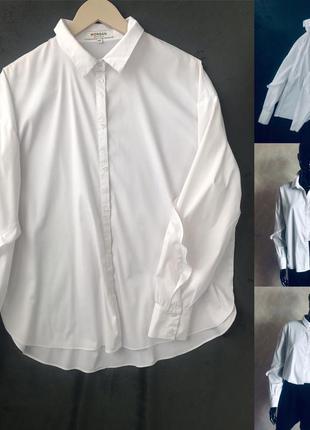 Белоснежная рубашка morgan оверсайз или л