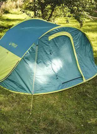 Туристическая 4-х местная летняя палатка автомат