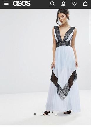 Шикарное длинное платье красивейшего цвета asos