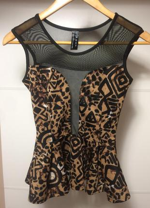 Шикарная блуза с баской sweet