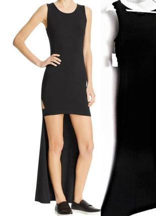 Брендовое платье (benjamin jay) асимметричной длины с небольши...