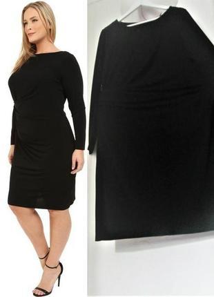 Платье миди с длинными рукавами и драпировкой сбоку (michael k...