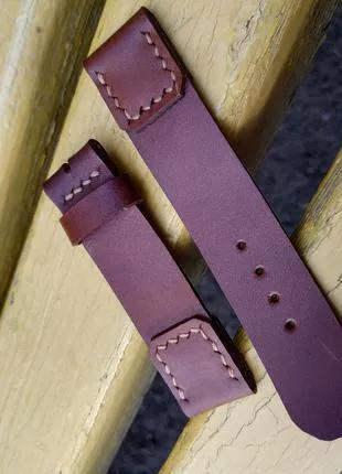Кожаный ремешок для/ на часы из кожи