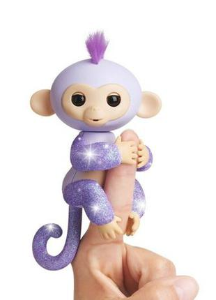 WowWee Fingerlings Glitter Kiki Блестящая интерактивная обезья...