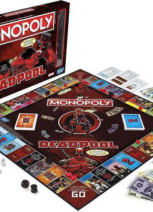Monopoly Монополия Настольная игра Marvel Deadpool Edition Дед...