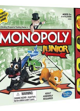 Hasbro Настольная игра Монополия Monopoly Junior Board Game A6984