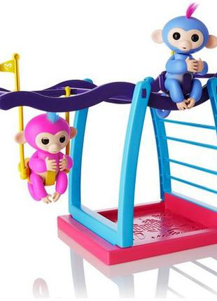 WowWee Fingerlings 2шт Интерактивные ручные обезьянки Liv and ...