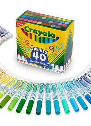 Crayola Washable Markers Толстые смывающиеся маркеры фломастер...