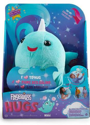 WowWee fingerlings нарвал обнимашка Никки Nikki narwhal plush ...