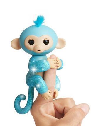 WowWee fingerlings обезьянка glitter amelia baby monkey intera...