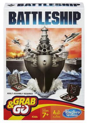Hasbro настольная игра морской бой дорожная версия battleship ...