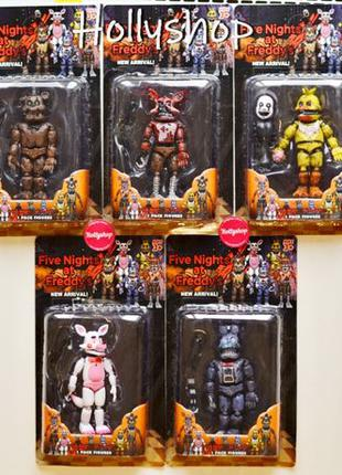 Комплект фигурок пять ночей с Фредди • набор игрушек 5 ночей с...