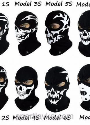 Балаклава утепленная с черепом Radical Scull маска подшлемник ...