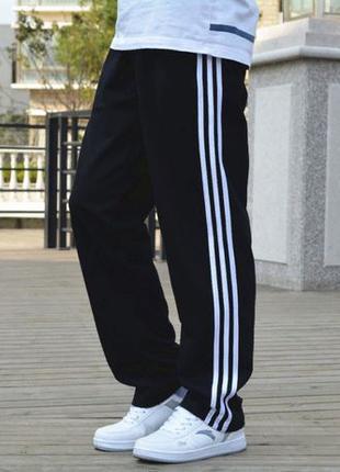 Прямые штаны Адидас Трикотажные классические мужские брюки Adidas
