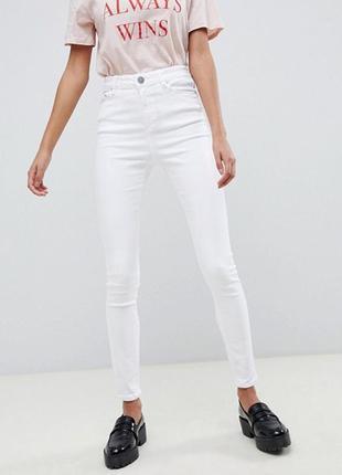 🎀белые джинсы скинни/высокая талия/супер качество/s-xxl/низкие...