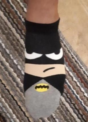 Носки superheros, бэтмен, капитан америка, счастливые носки, з...
