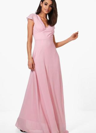 Ніжне плаття boohoo boutique платье шифоновое выпускной свадьбу