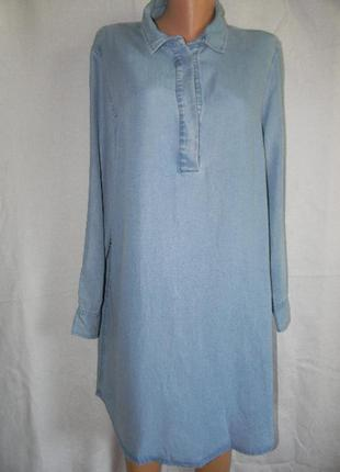 Джинсовое платье рубашка gap