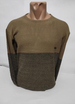 Мужской пуловер-тонкий свитер-джемпер большие размеры ( батал )