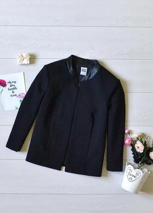 Чудовий піджак з кожзам вставками vero moda