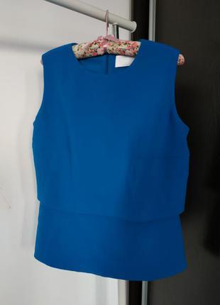 Фактурная блуза с оригинальной спинкой/блуза кейп от hugo boss