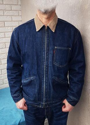 Levi's джинсовая куртка винтажная утепленная оригинал (l) made...