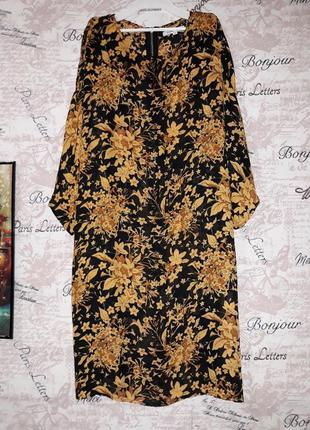 Платье оверсайз в цветочный принт