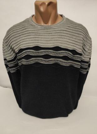 Мужской пуловер-тонкий свитер , большие размеры , батал