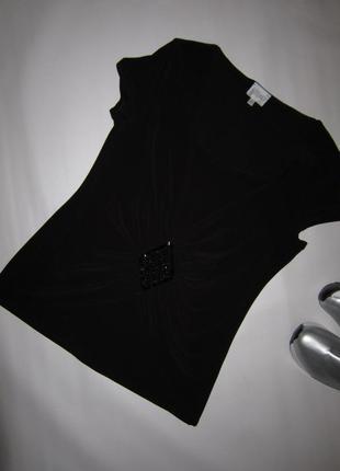 Футболка блуза с бисером и камнями