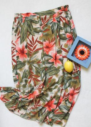 🍀 юбка миди с пуговичками, размер xl