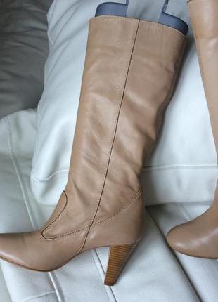 Демисезонные кожаные сапожки roberto santi