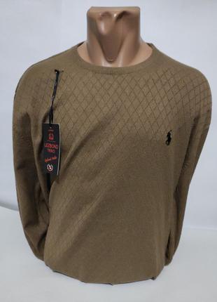 Мужской пуловер - тонкий свитер большие размеры ( батал )