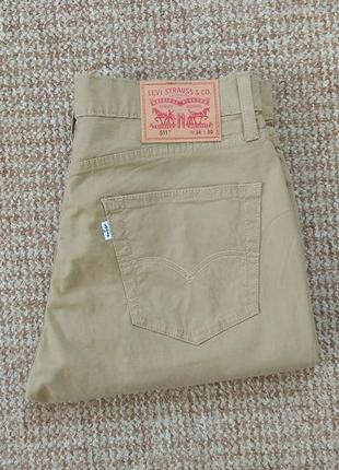 Levi's 511 slim fit легенькие чиносы джинсы оригинал (w34 l30)