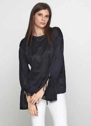 Блуза оверсайз с длинным рукавом