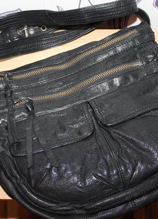 Интересная брендовая кожаная сумка allsaints amelita
