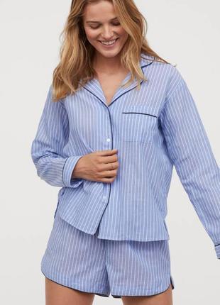 Пижама в полоску от h&m, очень уютная, хлопок l-xl